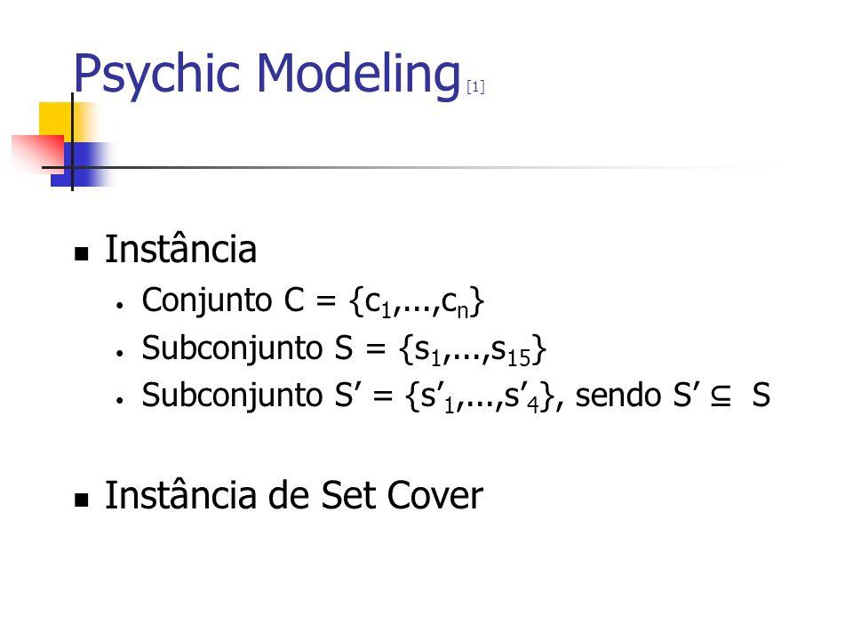 Psychic Modeling [1] Instância Instância de Set Cover
